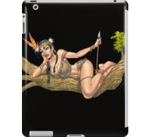 Native American Indian Pinup Girl by Al Rio iPad Case/Skin