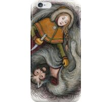 Wolfskin and the Huntress iPhone Case/Skin