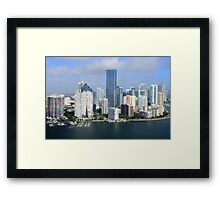 Miami: Downtown Skyscrapers Framed Print
