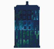 Wibbly Wobbly Timey Wimey Tardis - Doctor Who  by Karen Edwards