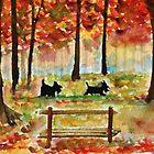 Scottie Dogs The Four Seasons 'Autumn' by archyscottie