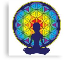 Flower of Life Meditation Canvas Print