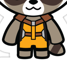 Talking Raccoon Sticker