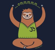 Om Yoga Sloth by zoel