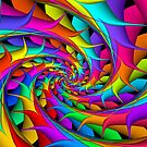 Rainbow 3D Spiral by Kitty Bitty