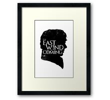 The East Wind Is Coming (Black) Framed Print