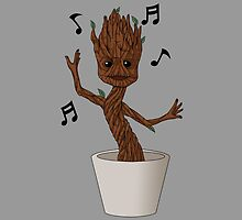 Groovy baby Groot by CoyoDesign