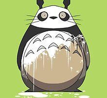 Totoro Painting Panda by crabro