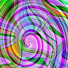 *70's Psychedelic Abstract* by Darlene Lankford Honeycutt