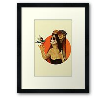 Calavera Princess Framed Print