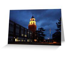 Pulliam Hall Clock Tower Greeting Card