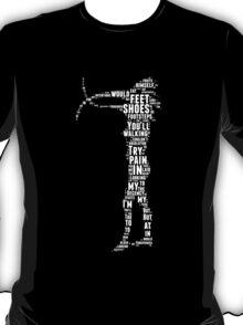 Depeche Mode : Walking In My Shoes - Word White T-Shirt