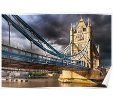 Landmark On The Thames - London Tower Bridge Poster