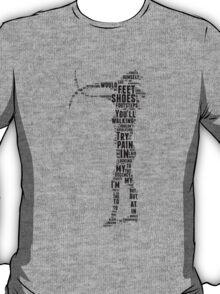 Depeche Mode : Walking In My Shoes - Word Black T-Shirt