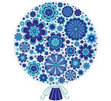 Elaborate Blue Flowers Background by amovitania