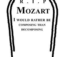 Mozart's Grave by Protagoras