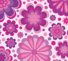 Bunch of Stylized Lilac Flowers Sticker