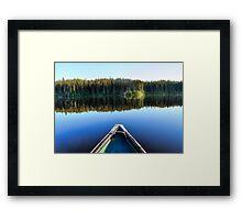 Canoeing on Lonely Lake Framed Print