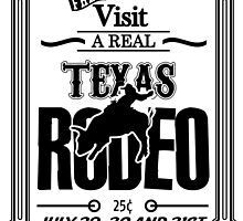 Texas Rodeo Advert Design by mosqitobite