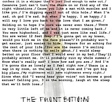 Compilation of Front Bottoms Lyrics  by carolxo