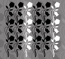 Layered Floral Silhouette Print (5 of 8 please see description) by Ra12