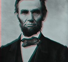 Glitched Abraham Lincoln by MrGOODMOOD