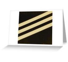 Adidas Black Stripe  Greeting Card