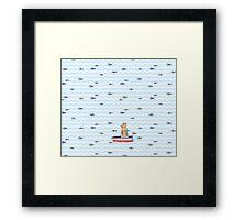 Salty sailor cat. Framed Print