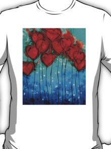 Hearts on Fire - Romantic Art By Sharon Cummings T-Shirt