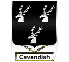Cavendish Coat of Arms (English) Poster