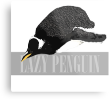Lazy Penguin Metal Print