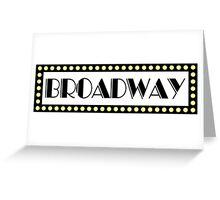 Broadway Greeting Card