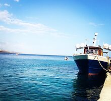 Cretan Boat by Maibie