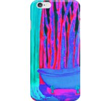Bathroom with dreams energy painting pink rosa and blue iPhone Case/Skin