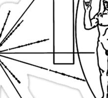 Rock the Universe - modified pioneer plaque Sticker