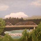 Russian River Bridge, Healdsburg by Cyndianne