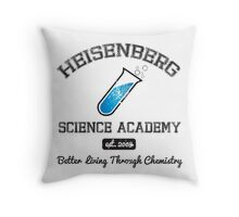 Heisenberg Science Academy Throw Pillow