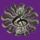 Retro Treble Clef / G Clef Music Symbol by TribalSol