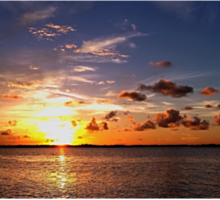 Sunset on Beach Road Panorama Sticker