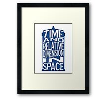 TARDIS Definition Framed Print