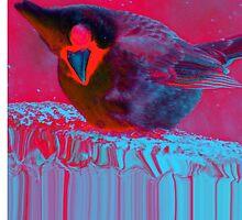 Trippy Little Bird (Red) by retrogallery