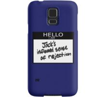 "Fight Club- "" I AM JACKS INFLAMED SENSE OF REJECTION Samsung Galaxy Case/Skin"