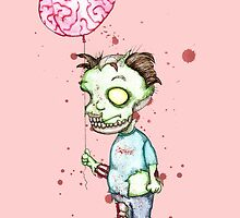 Zombie boy with Brain Balloon by LVBART