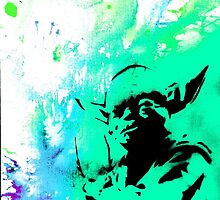Yoda Paint splatter by natureboy1992