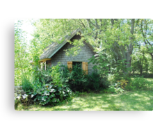 Country Garden Shed Metal Print