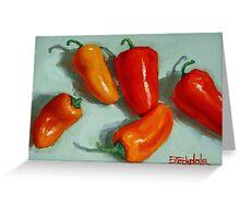 Mini Pepper Study No 3 Greeting Card