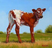 Texas Longhorn New Calf by Margaret Stockdale