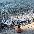Contemplation on Matala Beach, Crete, Greece by Francis Drake