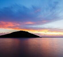 Veli Osir Island at sunrise, Losinj Island, Croatia. by Ian Middleton