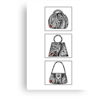 3 bag doodles Canvas Print